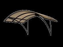 Односкатный навес из профильной трубы
